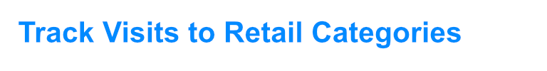 Track visits to Retail Categories